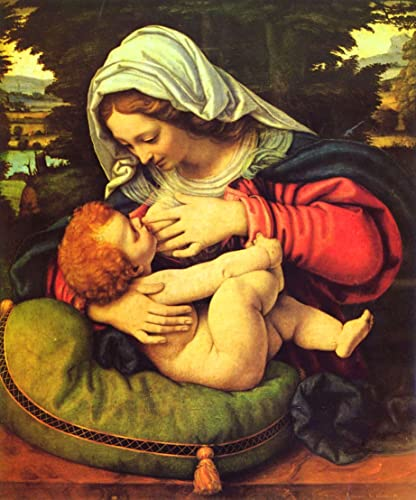Amazon.com: Virgin Mary and Child POSTER print A2 Madonna Picture by ...
