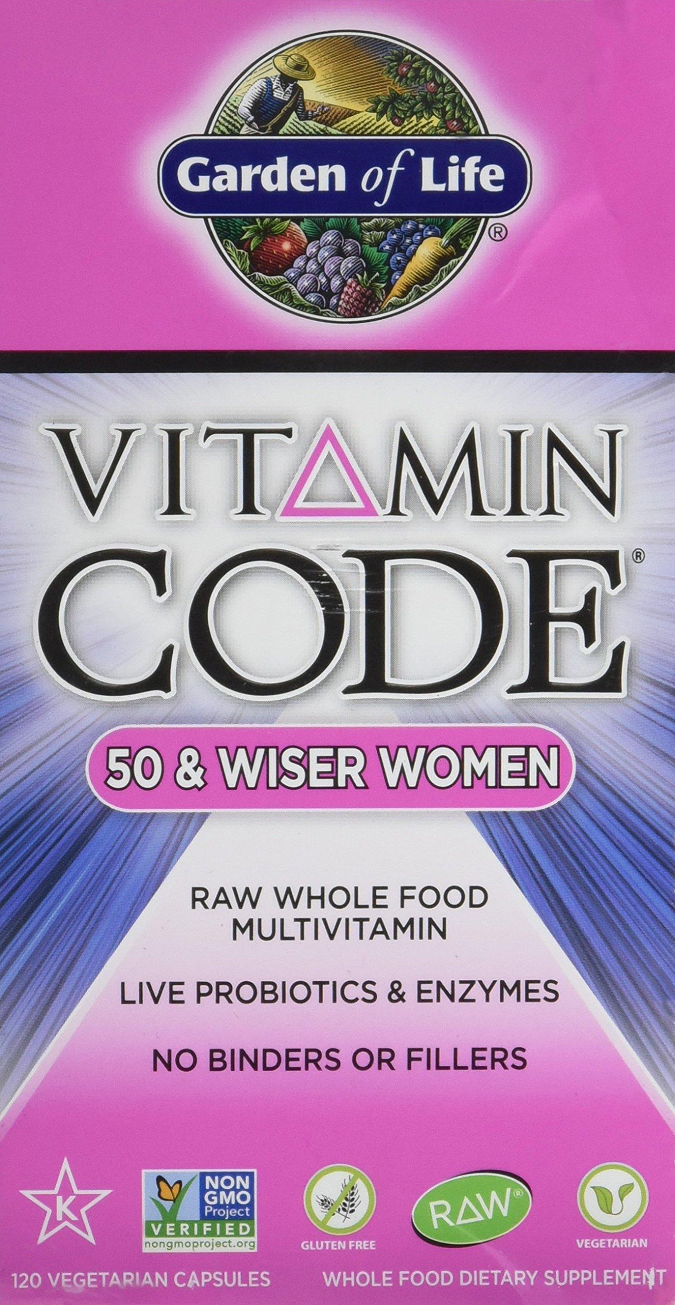 Garden Of Life, Vitamin Code 50 Wiser Womens Multi, 120 Veg Capsules