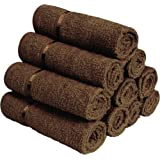 Story@Home 100% Cotton Soft Towel Set Of 10 Pieces, 450 GSM - 10 Face Towels - Brown
