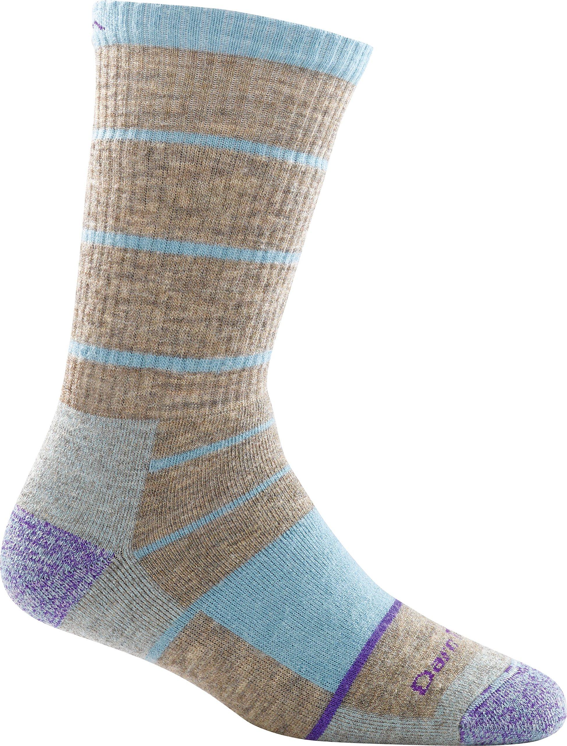 Darn Tough Summit Stripe Full Cushion Boot Sock - Women's Pebbles Large DISCONTINUED