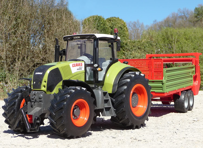 RC Traktor CLAAS Axion 870 + Anhänger in XL Länge 78cm 'Ferngesteuert' WIM-SHOP