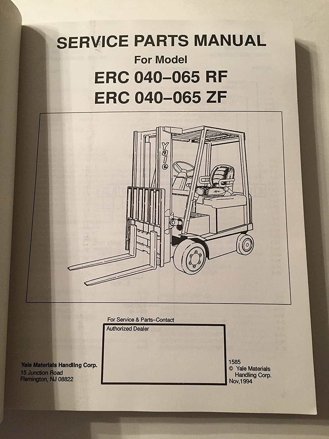 Yale Parts Diagrams Expert Schematics Diagram Glp060 Wiring Instructions Service Manual Erc 040 050 060 065 Rf Zf Mpe060