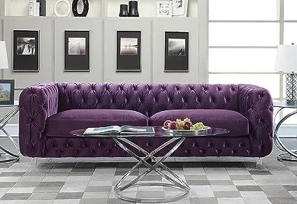 Amazon.com: Iconic Home FSA2657-AN Modern Contemporary Tufted Velvet ...