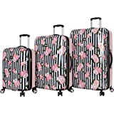 Betsey Johnson Designer Luggage Collection - Expandable 3 Piece Hardside Lightweight Spinner Suitcase Set - Travel Set includ
