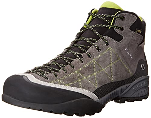 Scarpa Men's Zen Pro Mid GTX Hiking Boot, Shark/Spring, 40 EU/7.5 M US