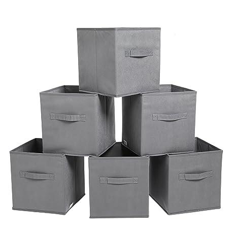 Finnhomy Foldable Storage Cube Fabric Basket Bins Cloth Folding Box Closet  Drawers Container Dresser Basket Organizer