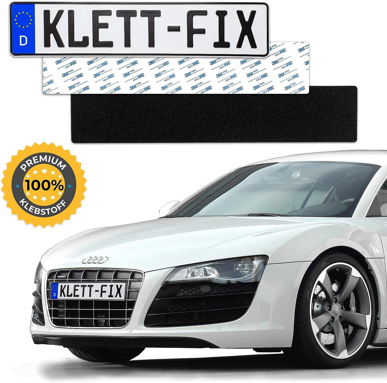 1 X Klett Fix Auto Und Motorrad Kennzeichenhalter Rahmenlos Nummernschildhalterung Kfz Unsichtbarer Nummernschildhalter Nummernschildhalter Auto