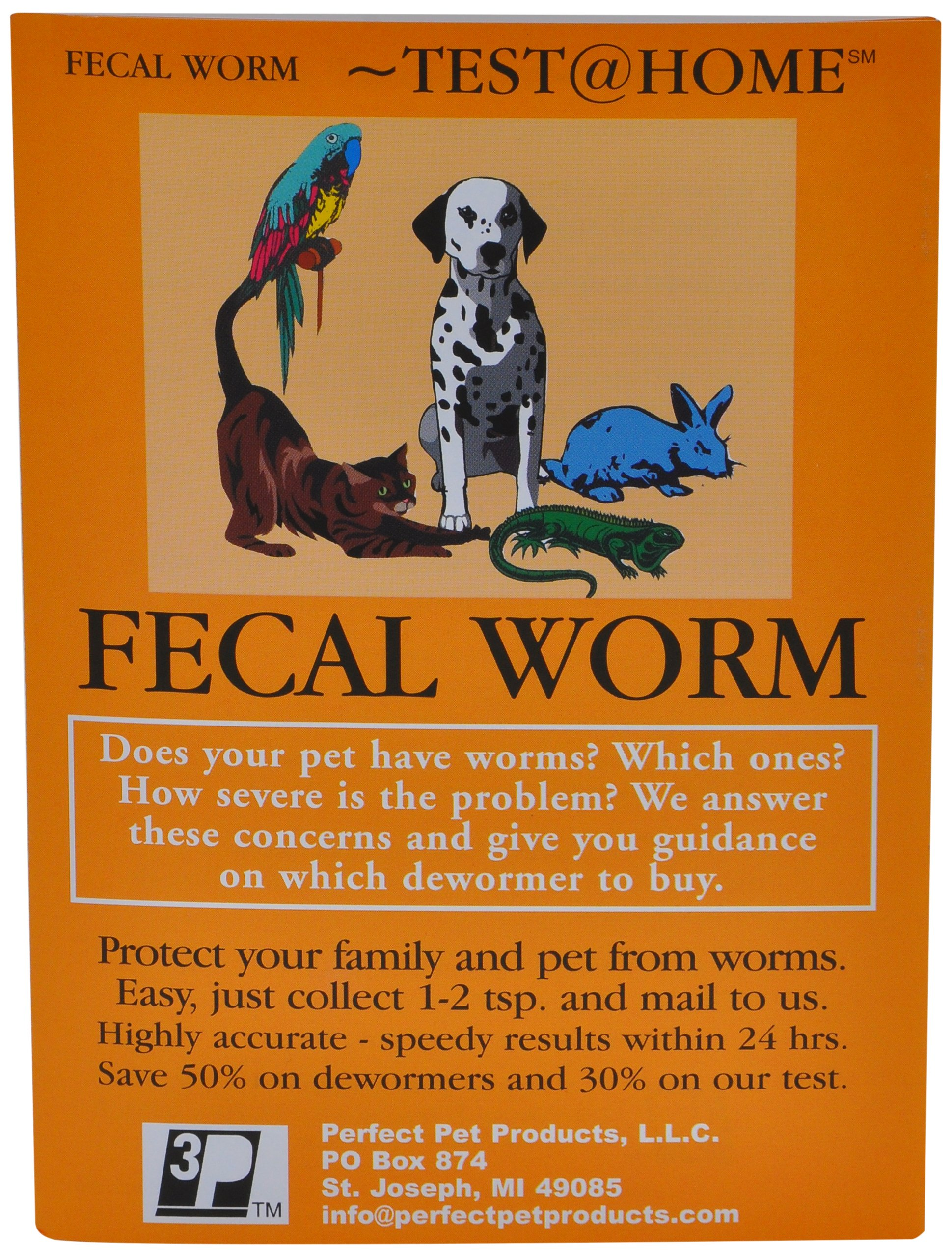 FECAL Worm Test for All Types of Pets(Dogs, Cats, Birds, Reptiles, Rabbits, Lions, Turtles)(Just Collect Sample and Mail to Our Vet Lab) by Unknown
