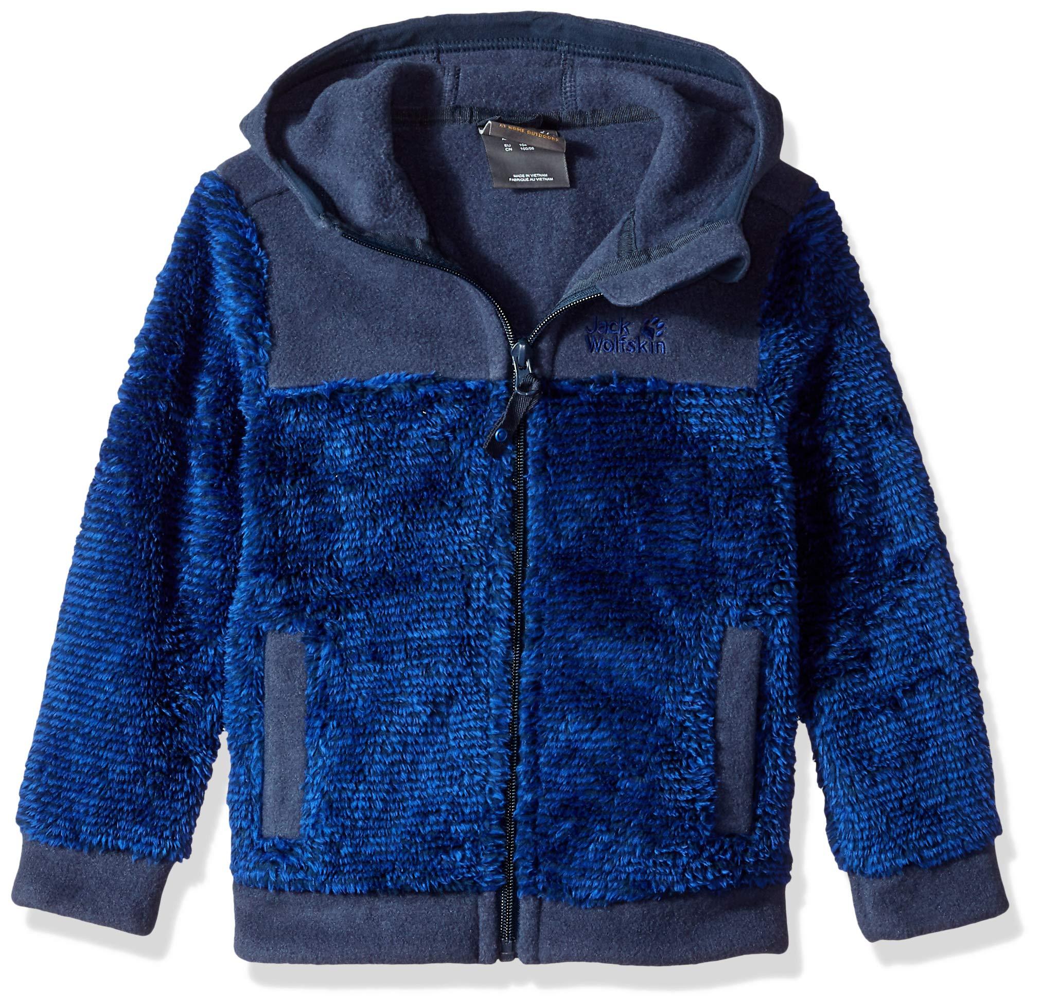 Jack Wolfskin Boy's Pince Cone Jacket, Night Blue Stripes, Size116(5-6)