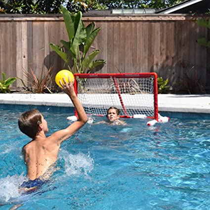 Amazon Com Gosports Floating Water Polo Game Set Must Have Summer Pool Game Includes Goal And 3 Balls Red Sports Outdoors