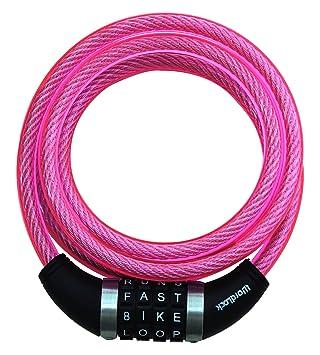 Wordlock In A Word Secure Bike Lock 10mm 6ft 180cm Color Pink