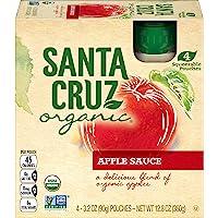 Santa Cruz Organic Apple Sauce Pouch, 4-3.2 Ounce Pouches (Pack of 6)