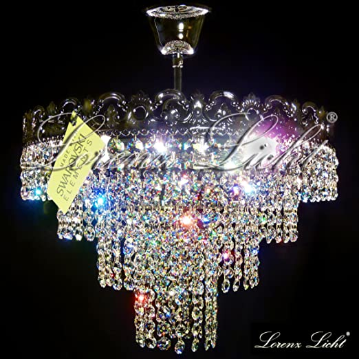 Italian crystal lighting chandelier viktoria made with real italian crystal lighting chandelier quotviktoriaquot made with real swarovski elements crystals color mozeypictures Images