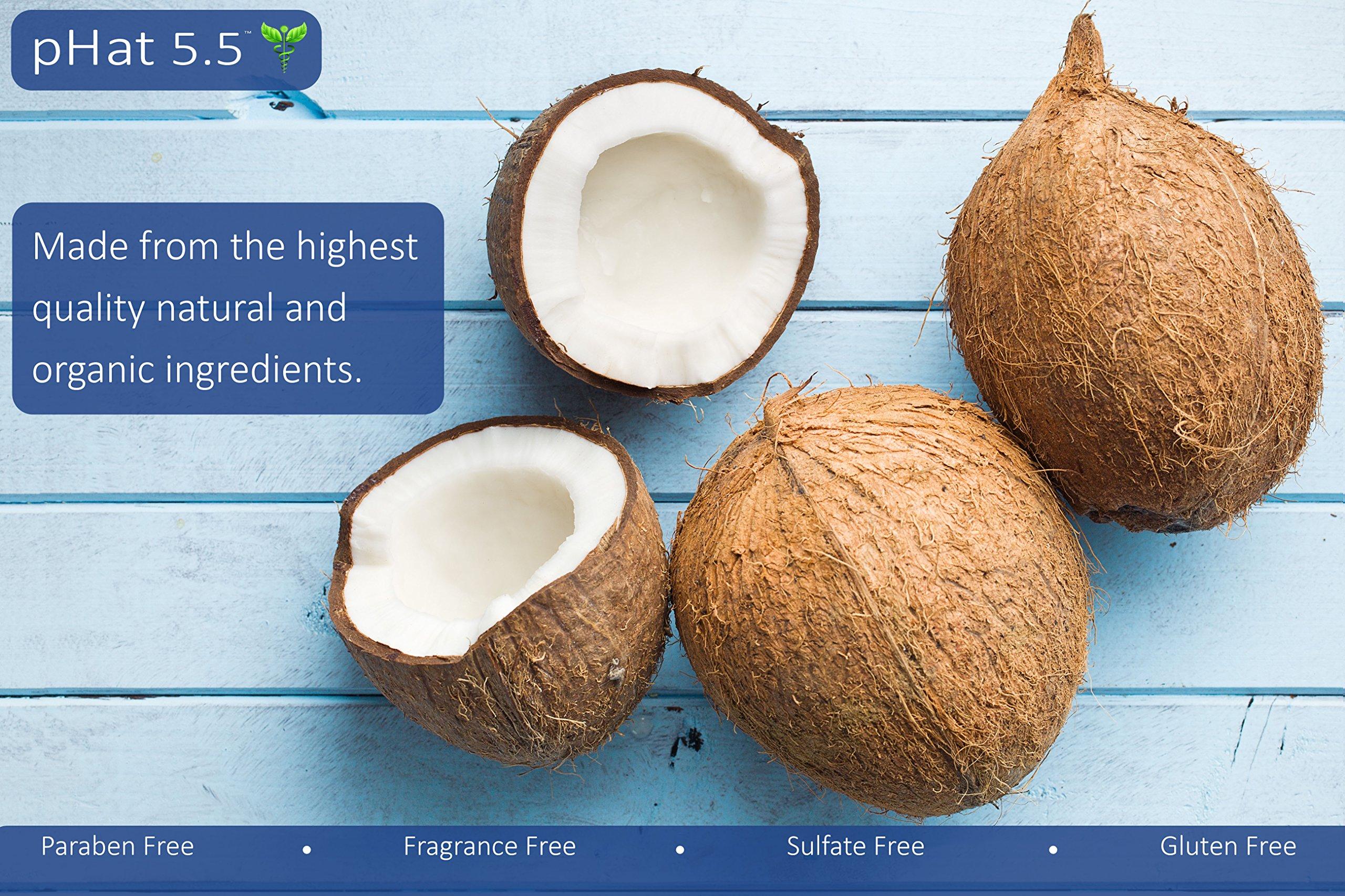 Sulfate Free Shampoo for Seborrheic Dermatitis with Manuka Honey, Coconut Oil and Aloe Vera - Dandruff and Itchy Scalp Treatment - Antifungal Moisturizing Shampoo for Dry Scalp Treatment (16 oz) by pHat 5.5 (Image #8)