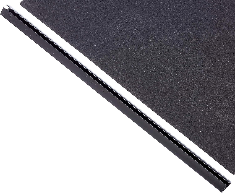 per 120 fogli formato A4 Confezione da 25 dorsi rilegafogli Eurobar spessore 12 mm Durable colore: Nero