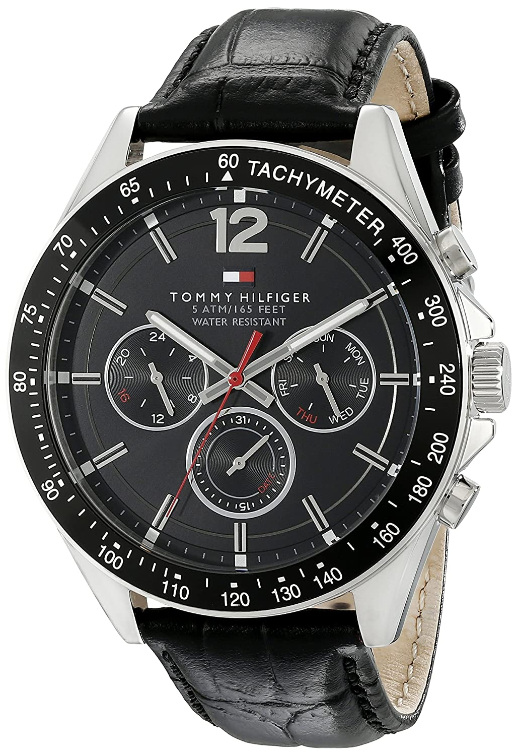 85d7ccdcf Amazon.com: Tommy Hilfiger Men's 1791117 Sophisticated Sport Watch With Black  Leather Band: Tommy Hilfiger: Watches