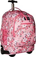 JanSport Driver 8 Core Series Wheeled Backpack (Prism Pink Pretty Posey, One_Size)