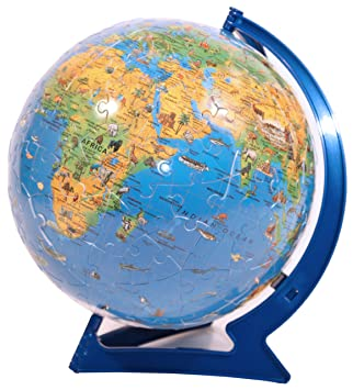 Ravensburger childrens world map puzzleball 180 pieces amazon ravensburger childrens world map puzzleball 180 pieces gumiabroncs Choice Image