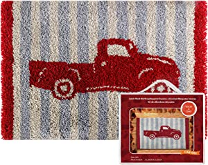 Latch Hook Kits Pickup Truck Rug for Home Decoration Latch Rug Hook for Adultsand Kids 31.5