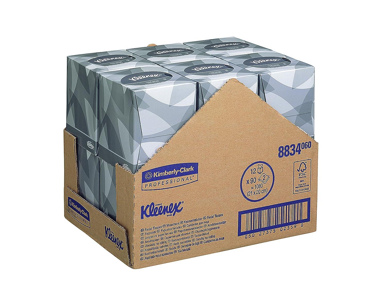 Kleenex 8834 Cubo de Pañuelos Faciales, 12 X 88 Servicios, 2 Capas, Blanco: Amazon.es: Industria, empresas y ciencia