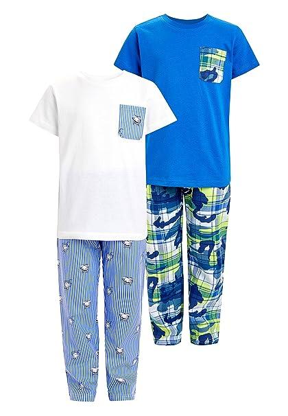 next Niños Pack De Dos Pijamas Tejidos (3-16 Años) Azul/Blanco 16 años: Amazon.es: Ropa y accesorios