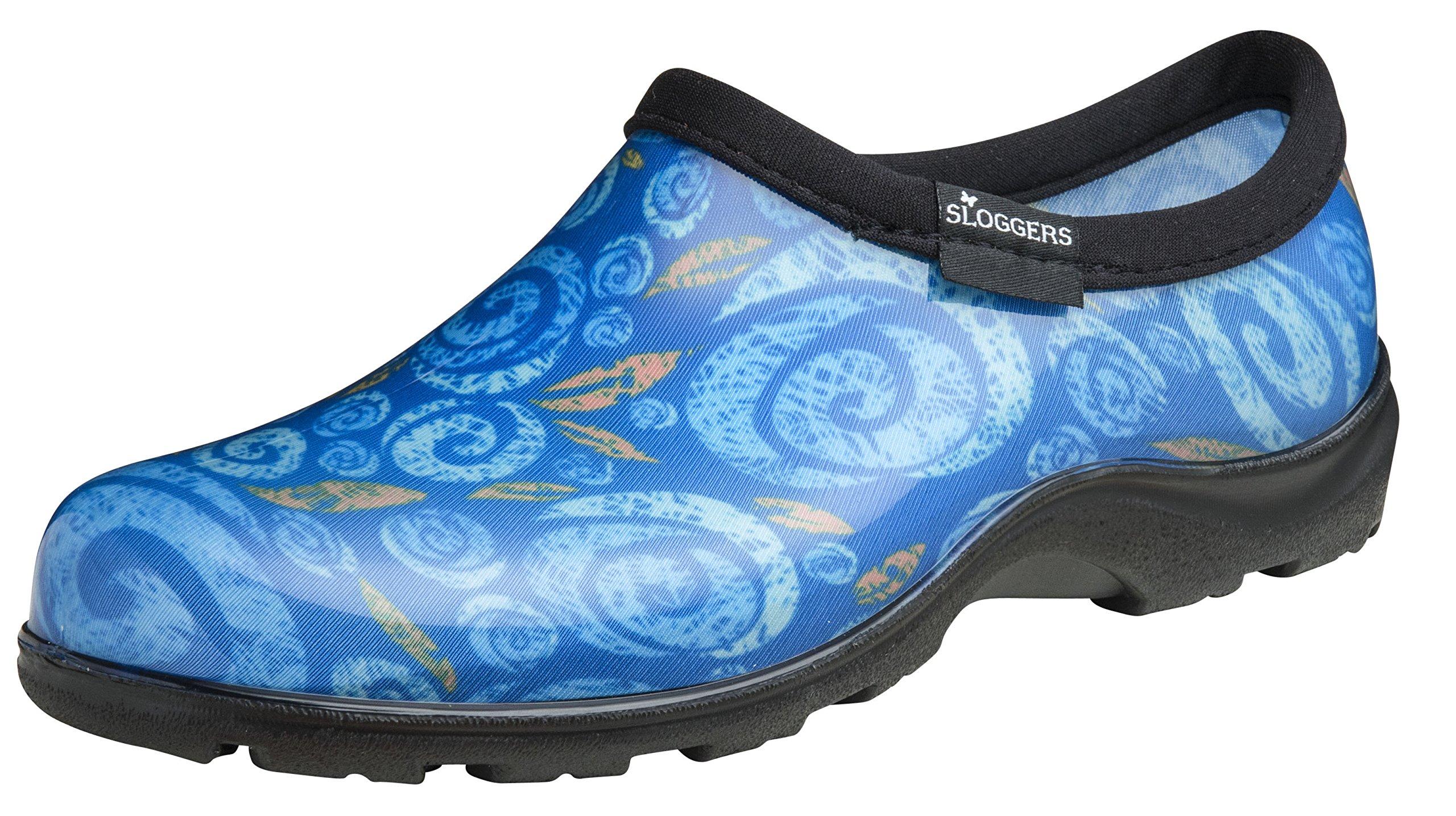 Wo/'s Size7,Black//White Polka Dot Print Sloggers 5113BP07 Rain/&Garden Shoe