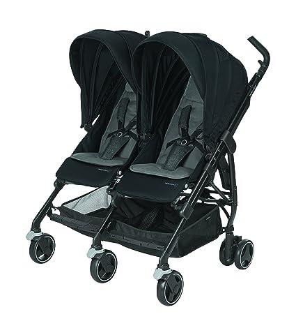 Bébé Confort Dana For2 - Silla de paseo gemelar, color nomad black