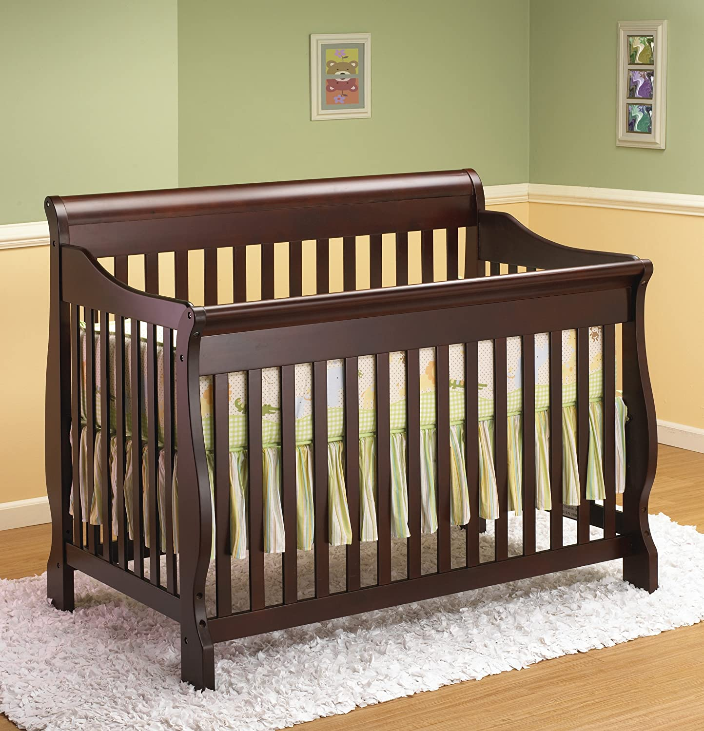 - Amazon.com : Sleigh Crib 4 In 1 From Orbelle Lifestyle In Cherry