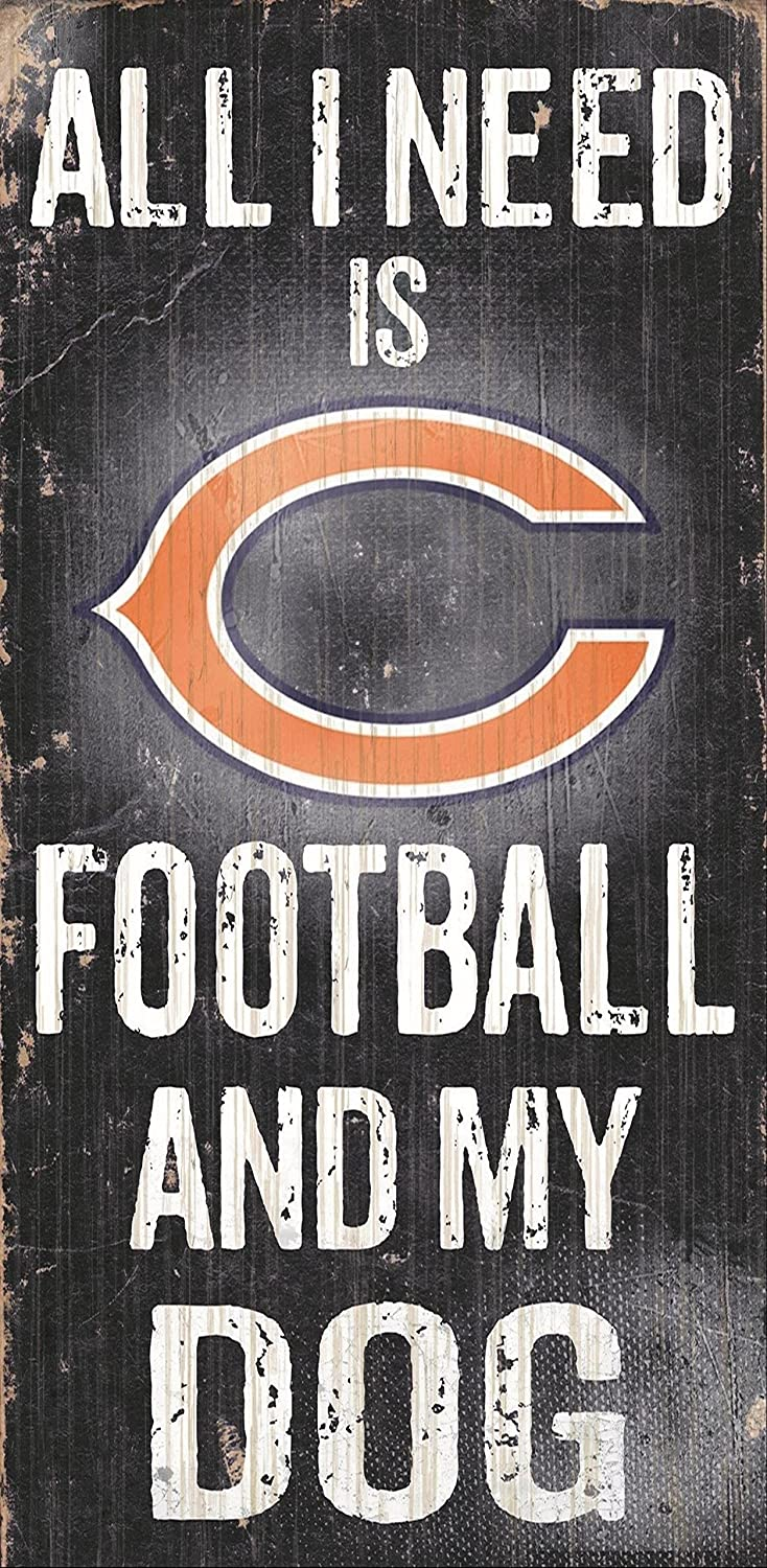 Fan Creations Chicago Bears Football and My Dog Sign Multicolored