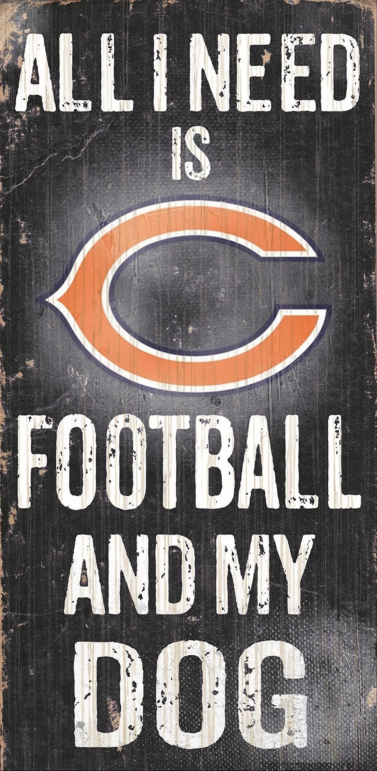 Fan Creations Chicago Bears Football and My Dog Sign, Multicolored by Fan Creations