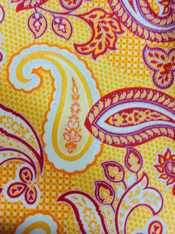 New Mens 2019 Canali Yellow Paisley Pattern Italian Silk Tie