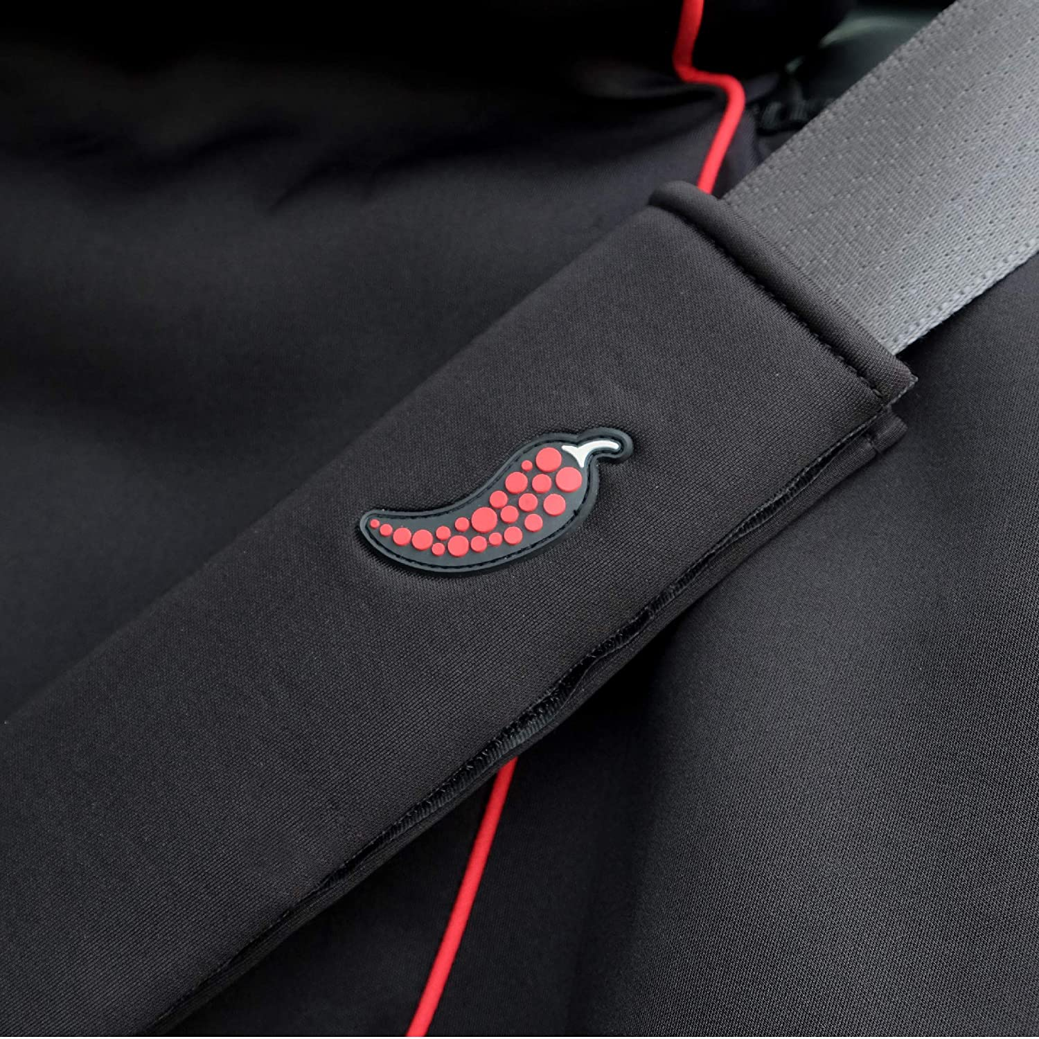 Sweat-Proof - Universal Car Seatbelt Pad Shoulder Strap XL - Long, Black and Blue Smoke Shoulder Pad Car Safety Belt Cover Spice Wrap Seat Belt Cover Easy to Clean and Soft Against Skin