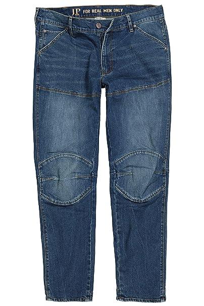 JP 1880 Herren große Größen bis 7XL, Jeans, lässig Weite Passform, markante Nähte, vorgewaschene 5 Pocket, Normale Leibhöhe, 720096