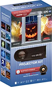 Total Home FX Animated LED Window Projector Kit, Black