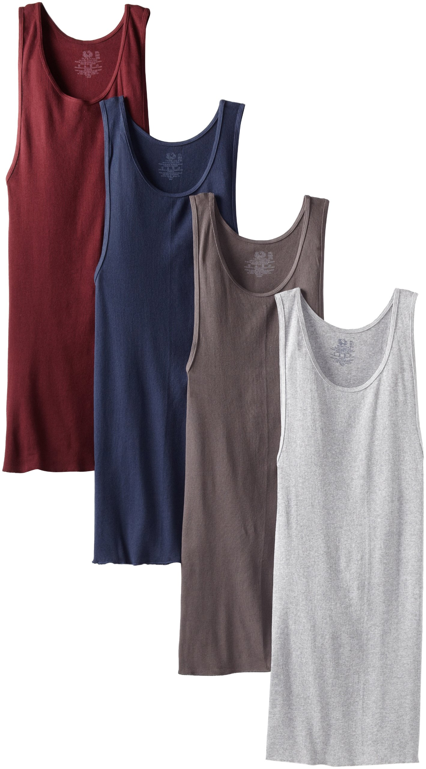 Fruit of the Loom Men's A-Shirt (Pack of 4), Assorted, XXX-Large