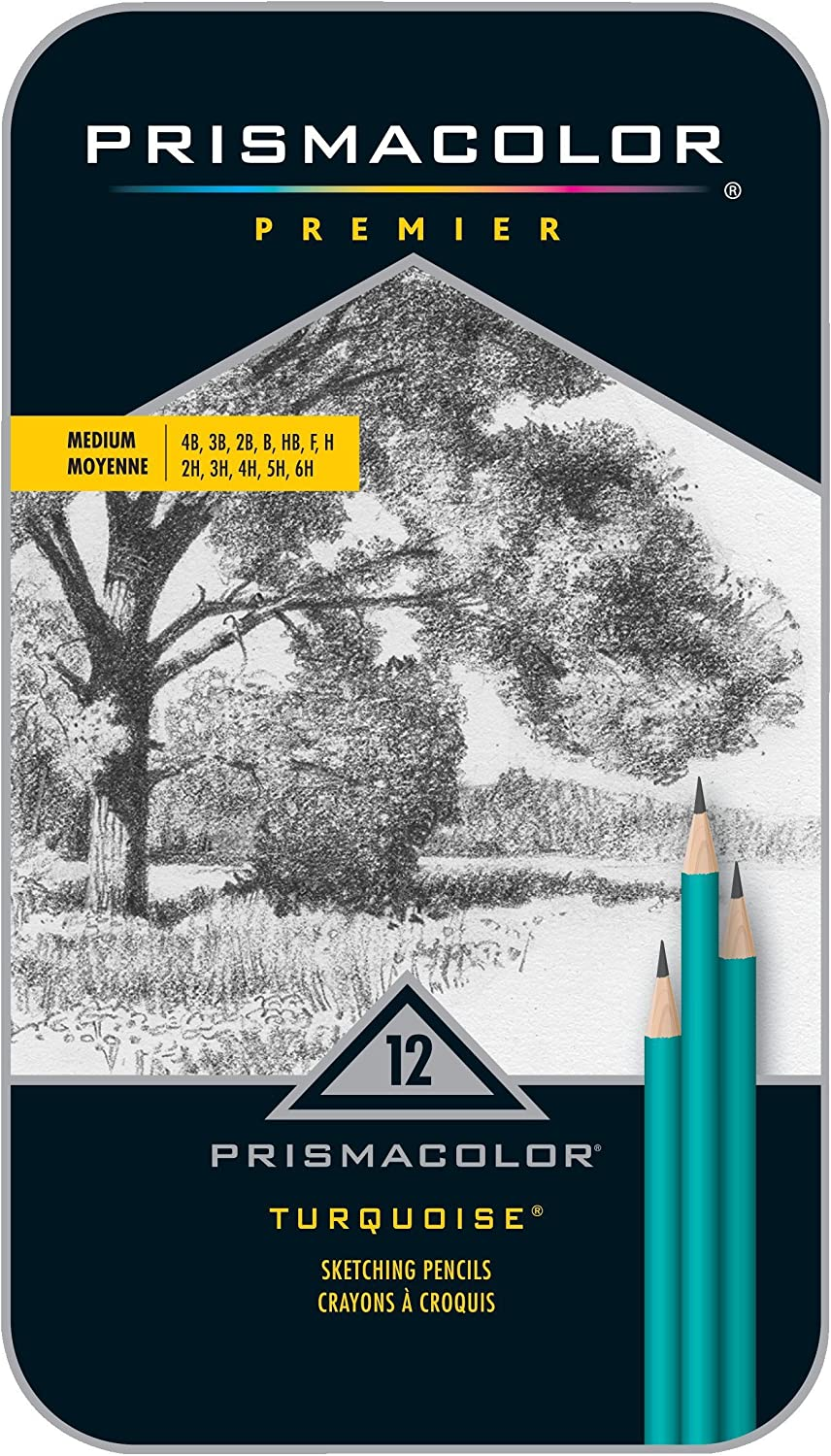 Medium Drawing Pencils 24192 Assorted Leads Box of 12 PRISMACOLOR TURQUOISE Pencil