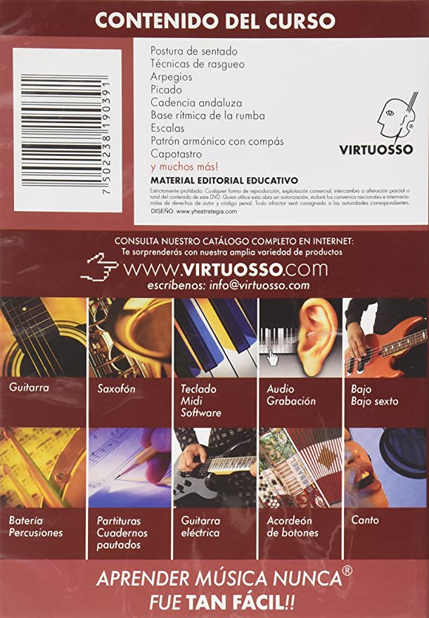 Amazon.com: Virtuosso Flamenco Guitar Method Vol.1 (Curso De Guitarra Flamenca Vol.1) SPANISH ONLY: Musical Instruments