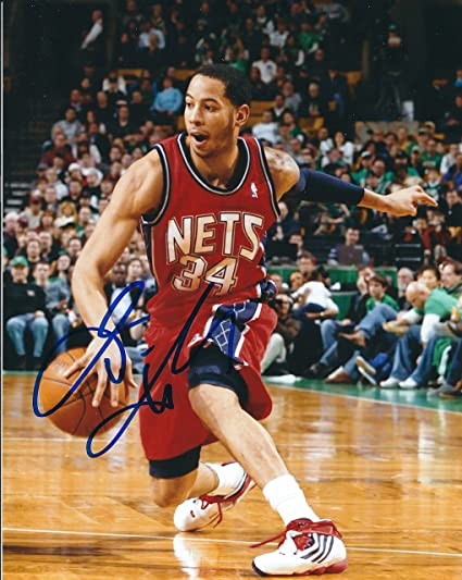 75b0e7532b43 Image Unavailable. Image not available for. Color  Autographed Devin Harris New  jersey Nets 8x10 Photo