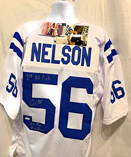 reputable site 42ec6 0e0cc Quenton Nelson Indianapolis Colts Signed Autograph White ...