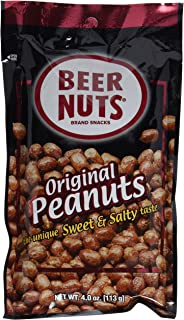 product image for BEER NUTS Original Peanuts - 4oz Single Serve Bags (Pack of 6), Sweet and Salty, Gluten-Free, Kosher, Low Sodium Peanut Snacks