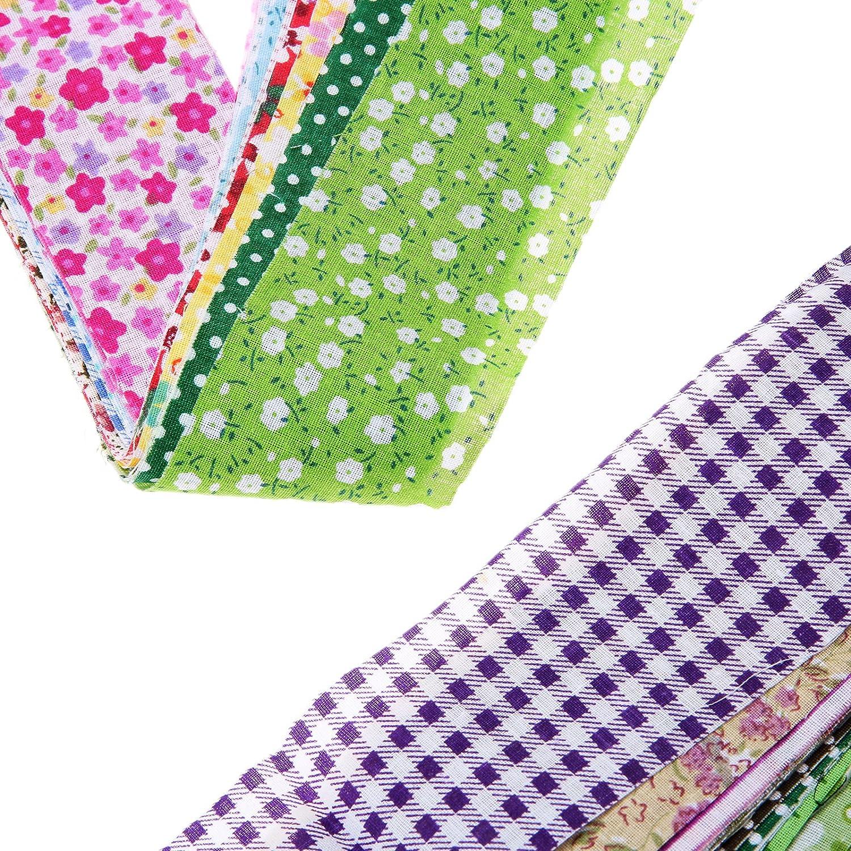 50Pcs 5x50cm Floral Stoffb/ündel Patchwork Stoffe DIY Gewebe Quadrate Baumwollstoff Stoffpaket zum N/ähen