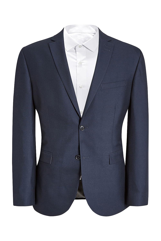 next Hombre Traje Brillante: Chaqueta Corte Sartorial Azul ...