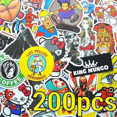 KingMungo 200 Piezas ¡Pegatina 200pcs Pegatinas para Snowboard, patineta, Motocicleta, Maleta Pegatinas