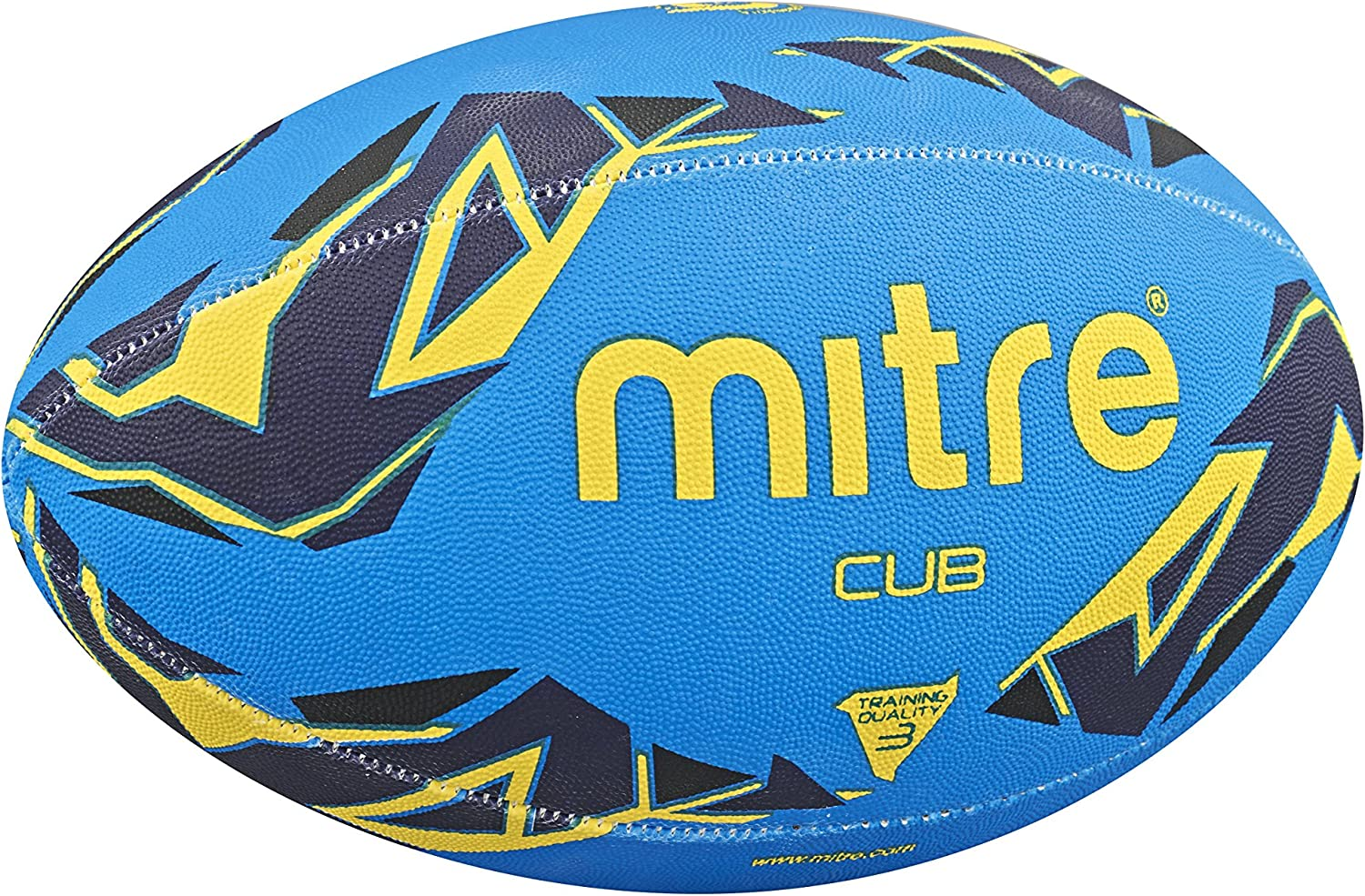 Mitre Mens Cub Training Rugby Ball - Blue/Navy/Yellow, Size 3 ...