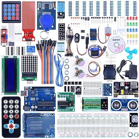 Quimat Kit de Arduino Más Completo y Avanzado con Tutorial, Placa UNO R3, Placa