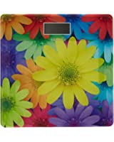 Venus EPS-1898 Electronic Digital LCD Fitness Weight Weighing Scale, Flower (Multicolor)