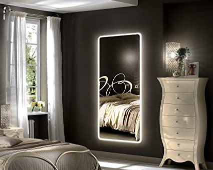Hu0026A LED Full Length Mirror Backlit Mirror Bedroom Illuminated Mirror With  Touch Button (65u0026quot;