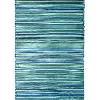 Indoor Outdoor Recycled Plastic Rug Mat | Waterproof, Reversible | Cancun Aqua (120x179cm)