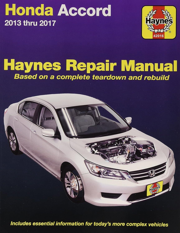 Amazon.com: Haynes Repair Manual for Honda Accord, 13-'17 (42016): Haynes:  Automotive