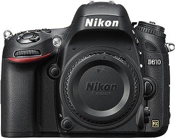 Amazon Com Nikon D610 24 3 Mp Cmos Fx Format Digital Slr Camera Body Only Camera Photo